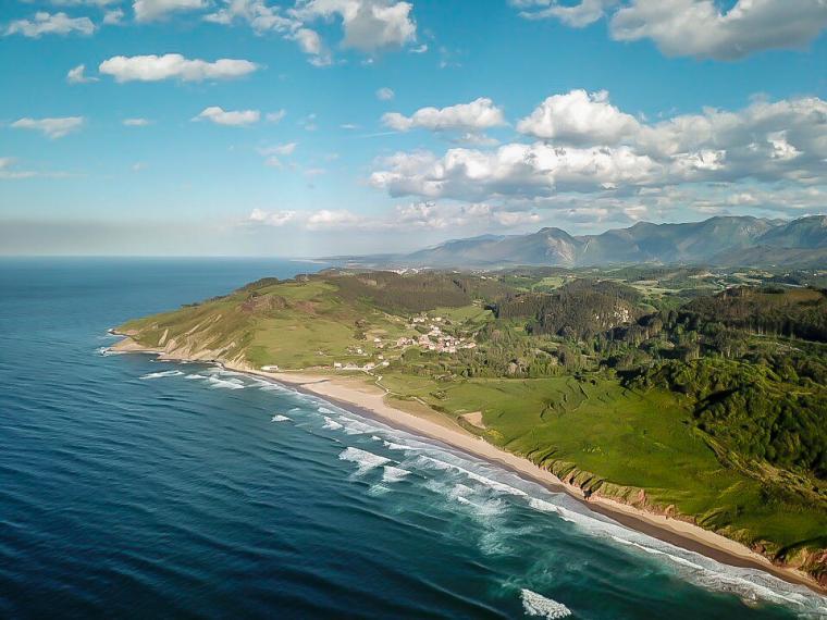 Playa de Vega aus der Luft
